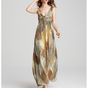 100% Anne Klein Collection Silk Maxi Dress